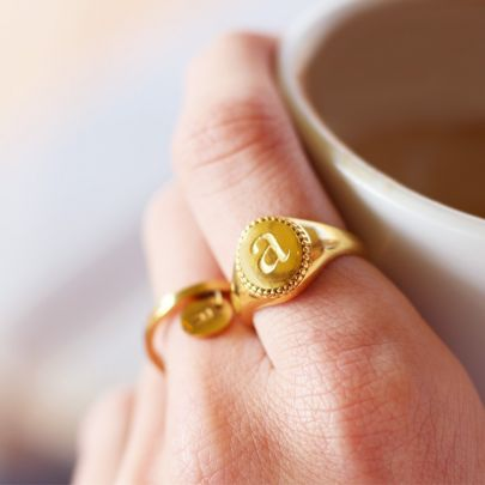 Initial Signet Ring