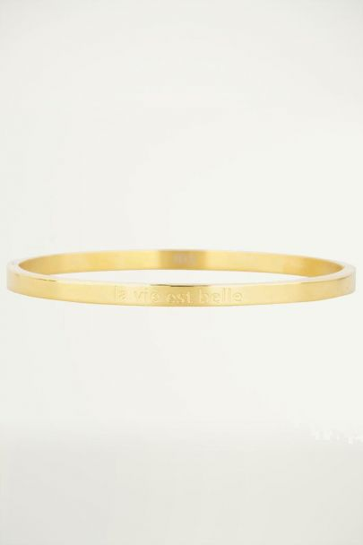 Bangle armband roestvrij staal quote, Armbanden