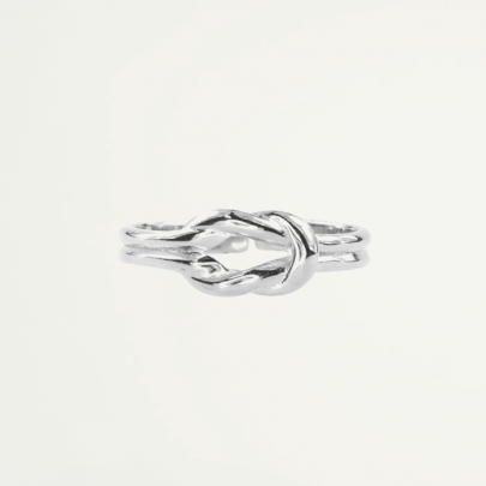 Ring knoop zilver, Minimalistische Ringen