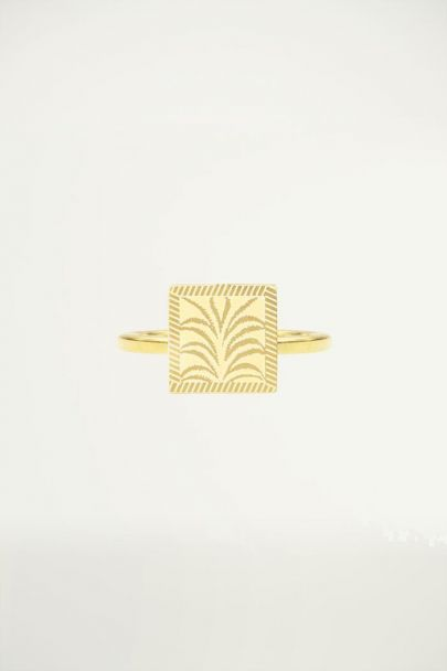 Ring met palm, vintage ring