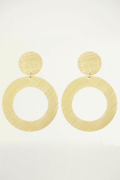Statement oorhangers grote ring, statement oorbellen