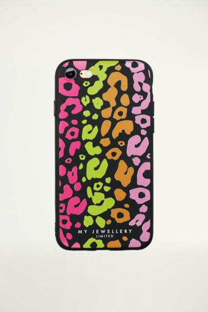Colored Panther iPhone Case - Black