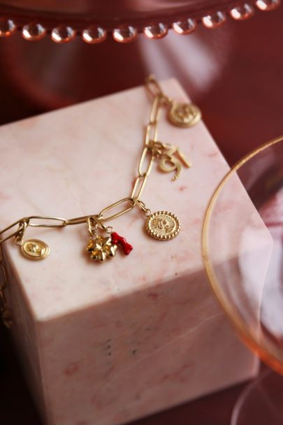 Moments charm red coral
