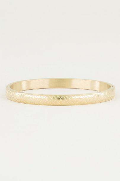 Bangle met schubben, slavenarmband