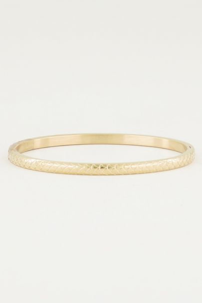 Smalle bangle met schubben, smalle bangle