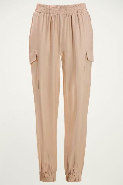 Beige cargo broek | Beige broek | Cargo pants My jewellery