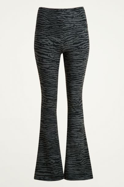 Flared pants zebra print | Flared pants met print My Jewellery