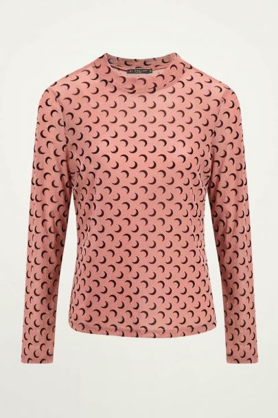 Roze top lurex met maantjes | roze top My Jewellery