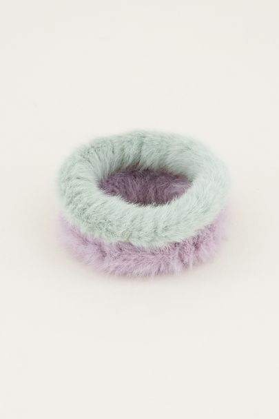 Groene scrunchie set fluffy