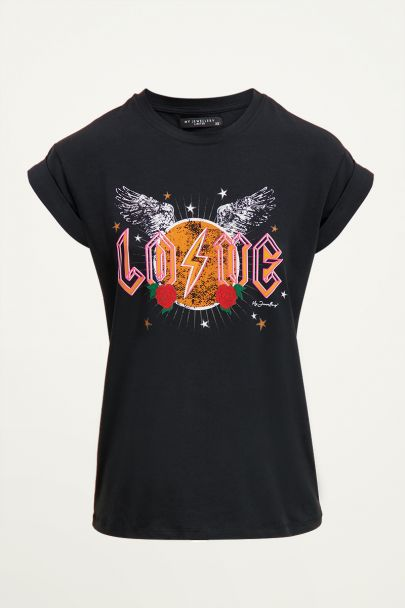 T-shirt love rock | Stoere t-shirts bij My Jewellery