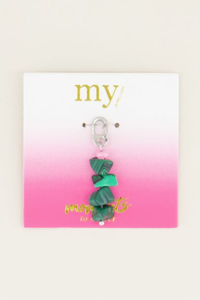 Moments charm malachite stone
