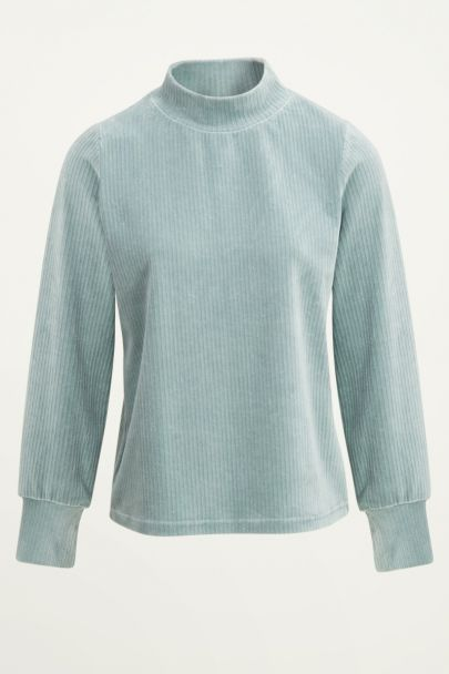 Mintgroene corduroy top | Mintgroene top My Jewellery