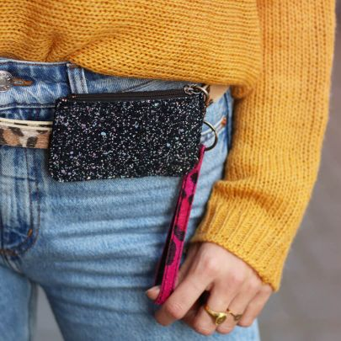 Multicolor Small Glitter Wallet