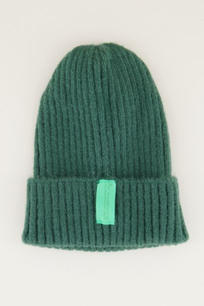 Groene winter beanie, beanie. my jewellery