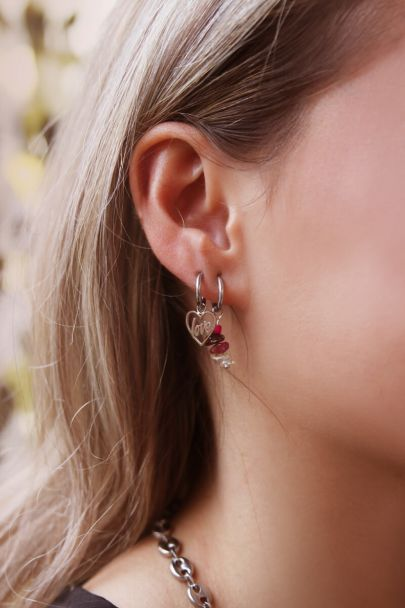Moments earring multicolor stone