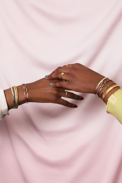 Roze forever connected armband