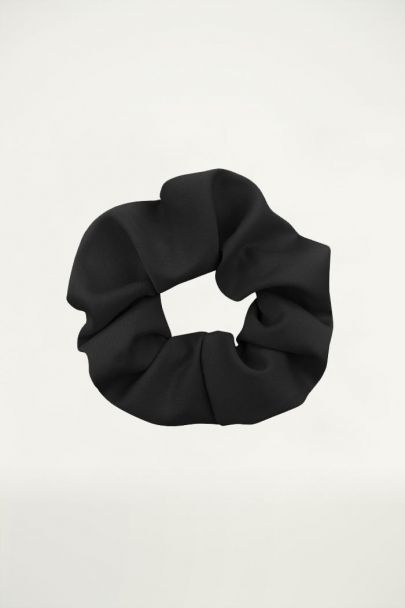 Zwarte scrunchie basic, Haarelastiekjes My Jewellery