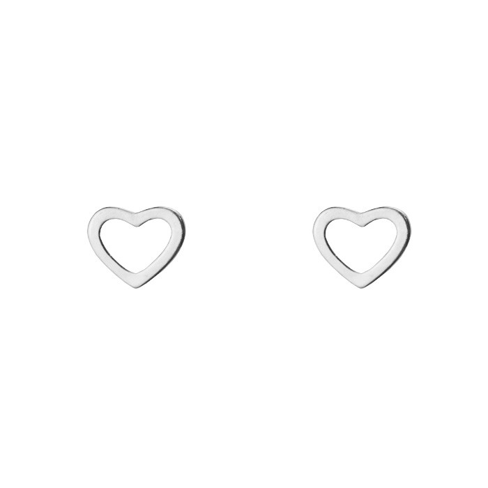 Earstud Hearts Gold Silver Rose