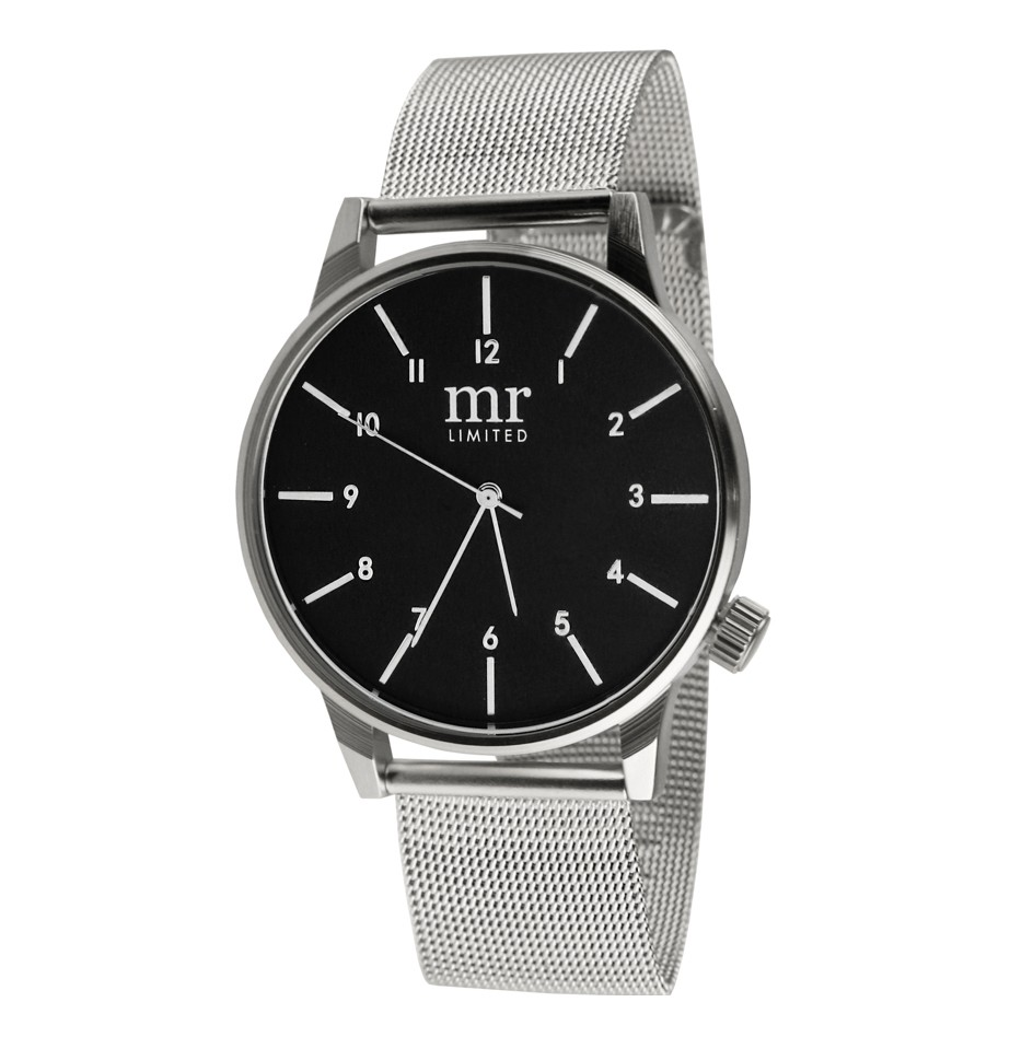 Mr. Jewellery Limited Watch - Silver/Black