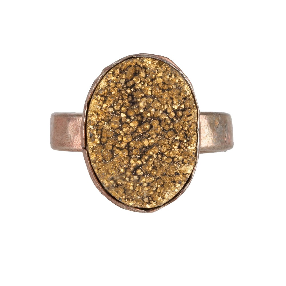 My Jewellery Gold Drizzy Ring - Rose Oval Yellow