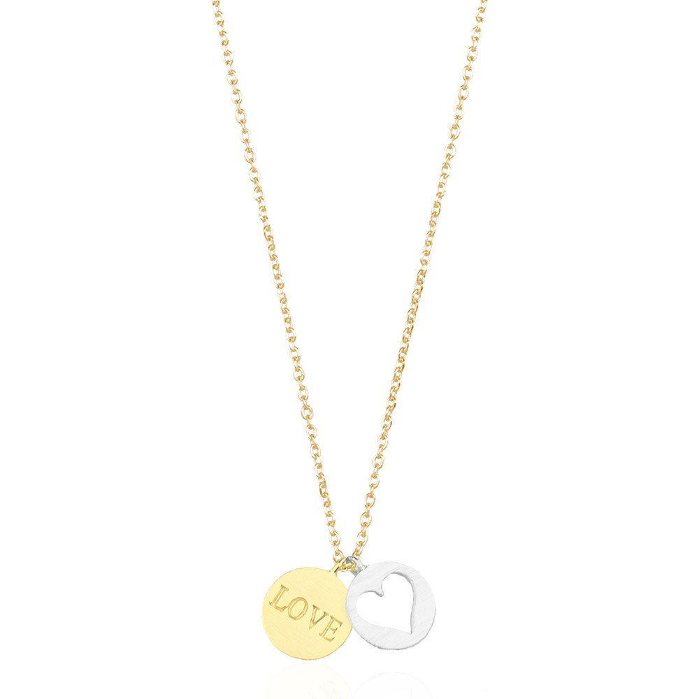 Love Coin Necklace Gold Silver