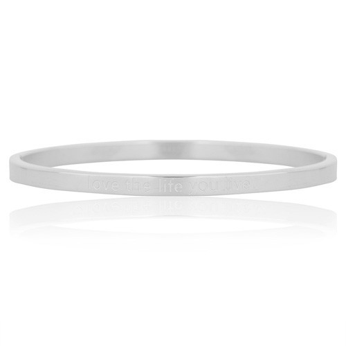 Stainless steel bangle - silver
