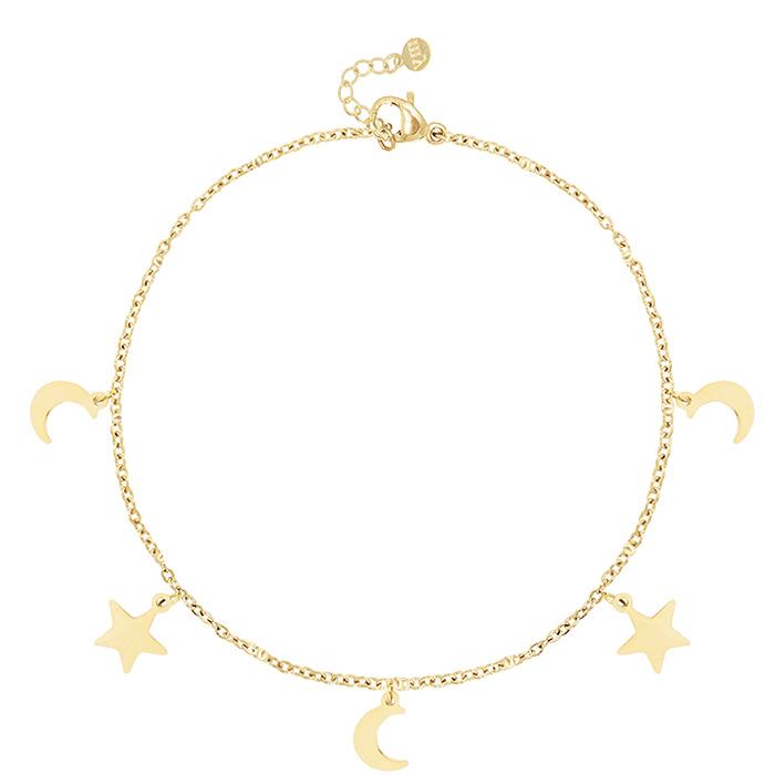 Afbeelding van Armbandje met maan en sterren