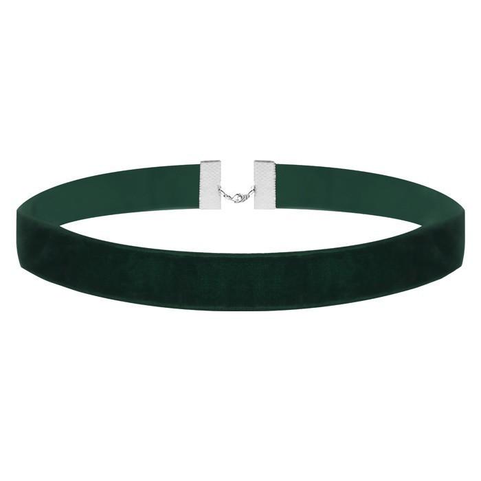 Velvet Choker Green