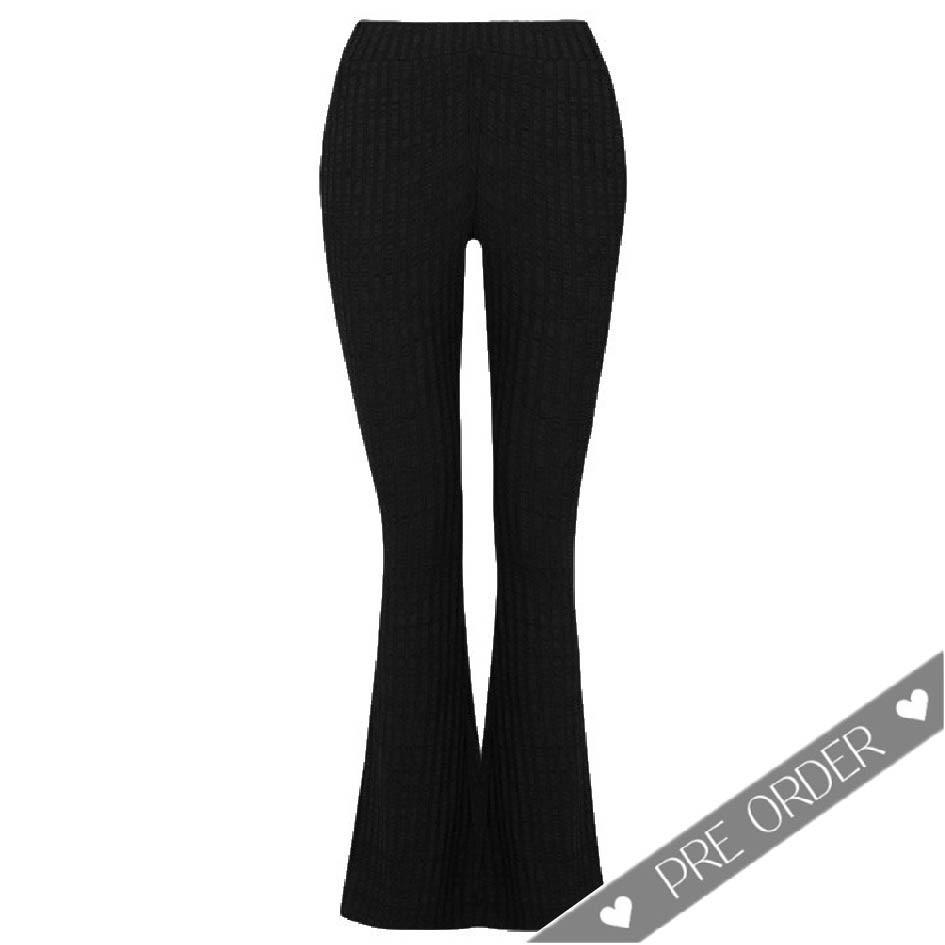 PRE ORDER - Flared Soft Pants - Black
