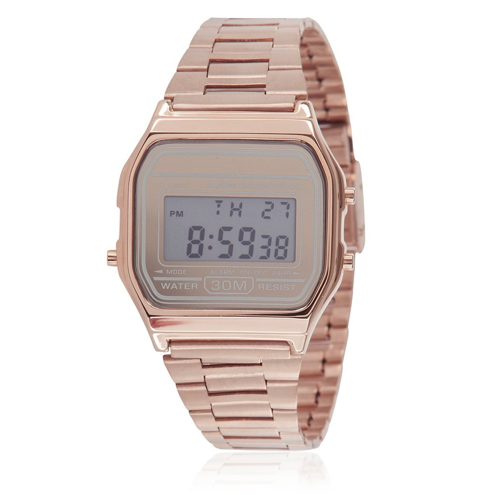 Classic Digital Watch - Rose Gold