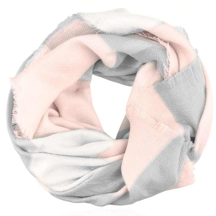 Checked scarf - Light Pink/Grey