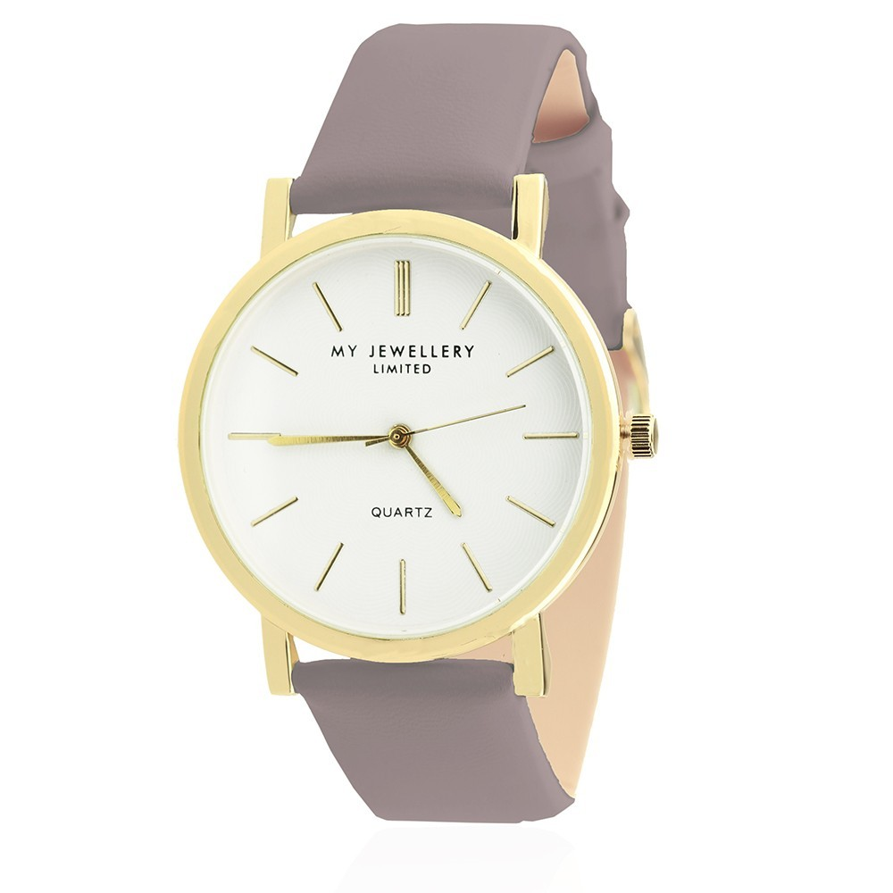 My Jewellery Limited Watch Taupe Gold