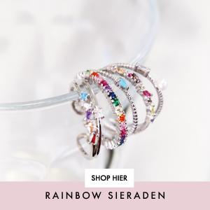 Rainbow sieradenRegenboog oorbellen, kettingen en ringen