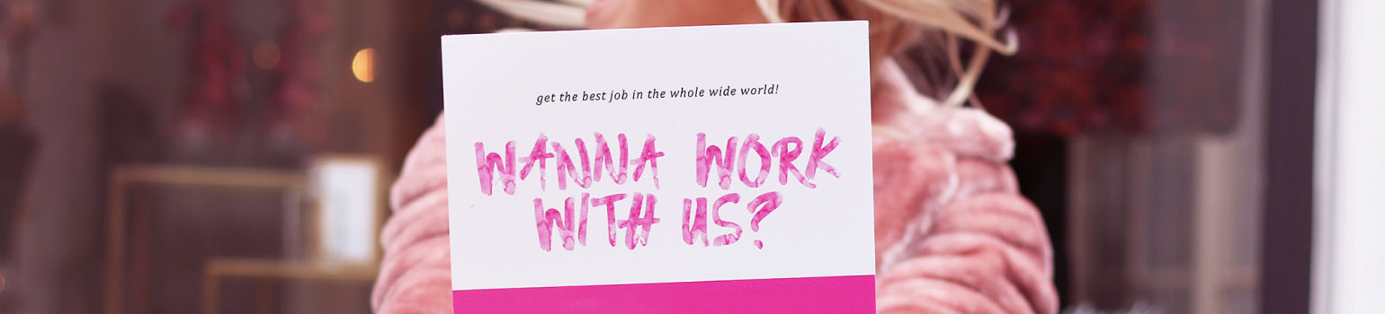 wanna work with us