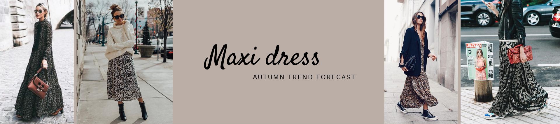 trend najaar 2019: maxi dress