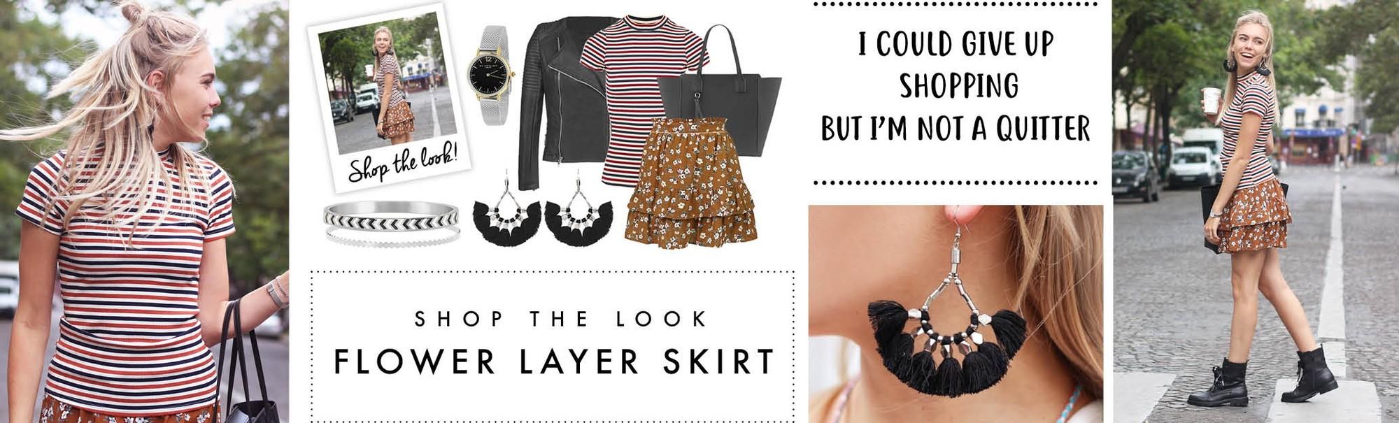 My Jewellery Flower Layer Skirt