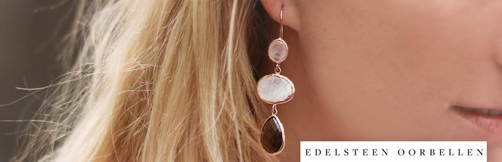 My Jewellery edelsteen oorbellen