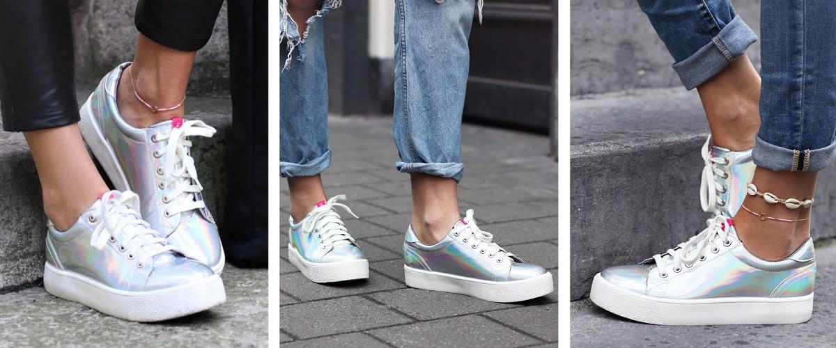 Holografische schoenen